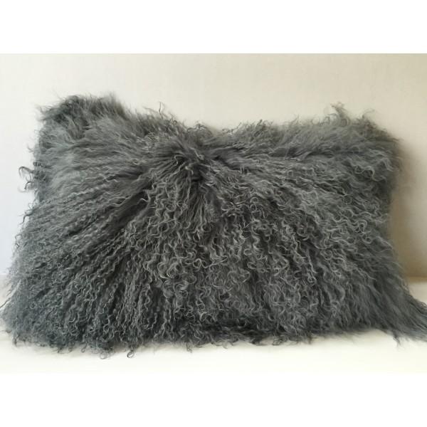 Mongolian Tibetan Lamb Fur Pillow Bleach White 12 Quot X20 Quot