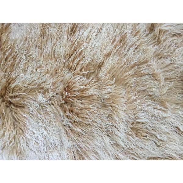 Mongolian Tibetan Lambskin Sheepskin Fur Wool Pelt Rug