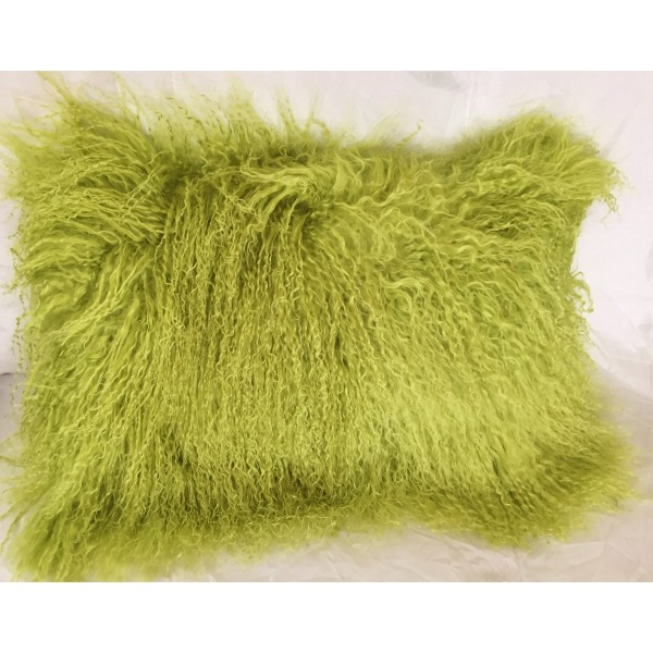 Mongolian Tibetan Lamb Fur Pillow Lime Green 12 Quot X20