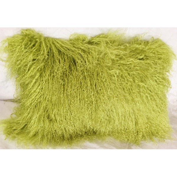 Mongolian Tibetan Lamb Fur Pillow Lime Green 12 Quot X20