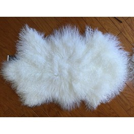 Mongolian Tibetan Lambskin Fur Wool Rug